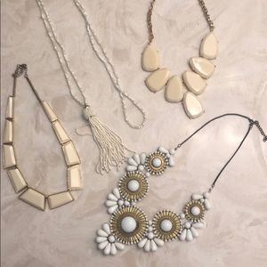 Lot of cream and white jewelry